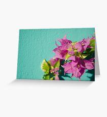Pink flora Greeting Card