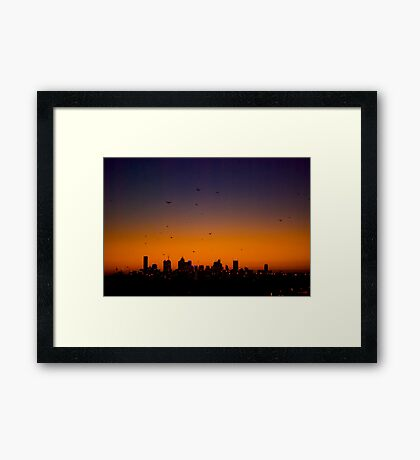 Melbourne Twilight Framed Print