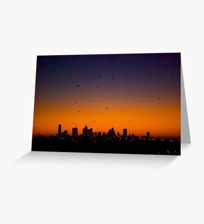 Melbourne Twilight Greeting Card