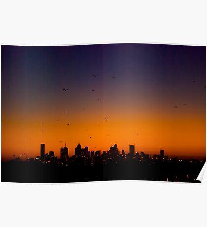 Melbourne Twilight Poster