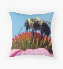 """gathering pollen"" Throw Pillow"