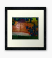 it's all just a blur Framed Print
