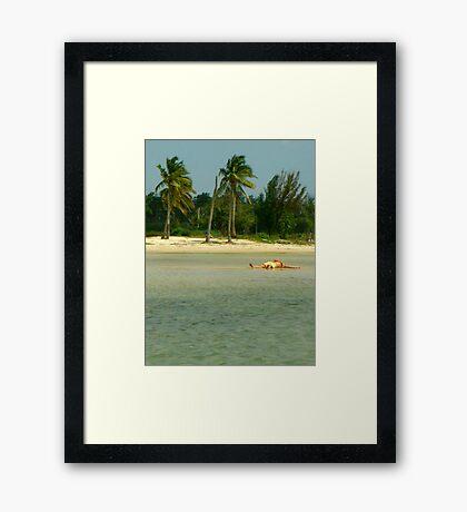Pure Caribbean Bliss Framed Print