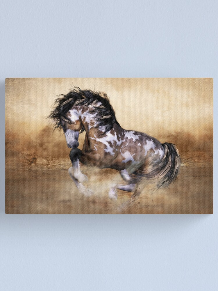 Alternate view of The Wild,The Free Painted Horse Canvas Print