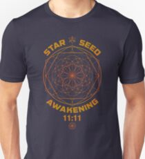 Star Seed Awakening Sacred Geometry 11:11 Slim Fit T-Shirt