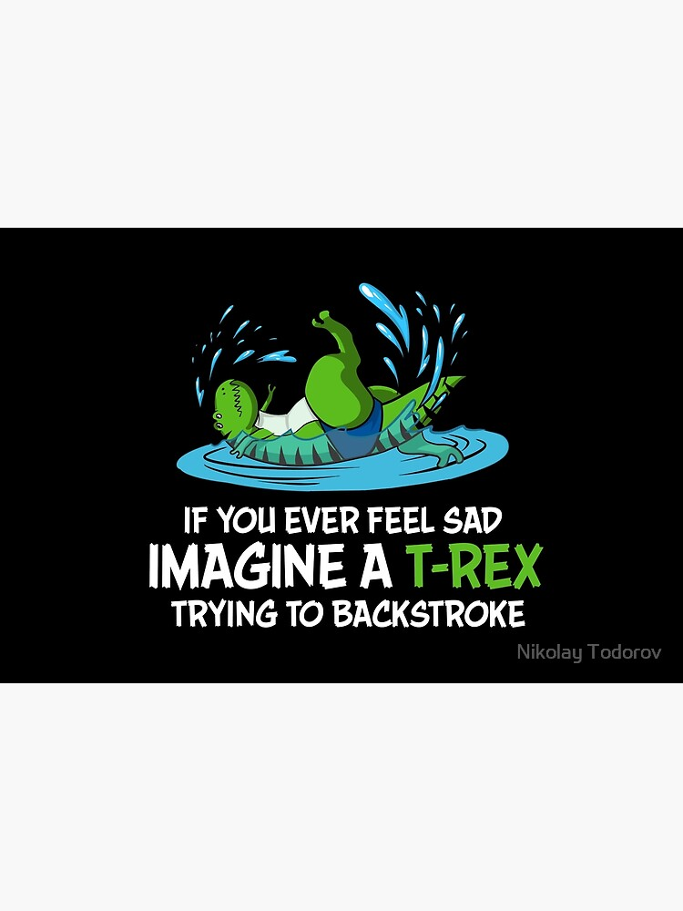 Funny Dinosaur T-Rex Hates Backstroke Swimming by underheaven