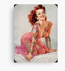 Tattoo Pin-Up Girl Canvas Print
