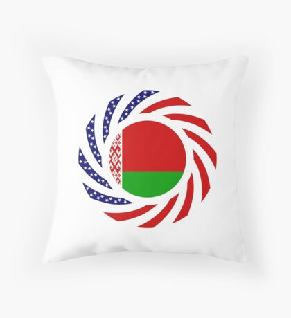 Belarusian American Multinational Patriot Flag Series Throw Pillow