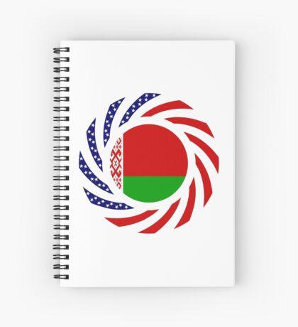 Belarusian American Multinational Patriot Flag Series Spiral Notebook