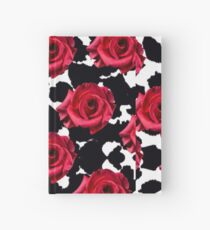 Red Rose Leopard Abstract Print  Hardcover Journal