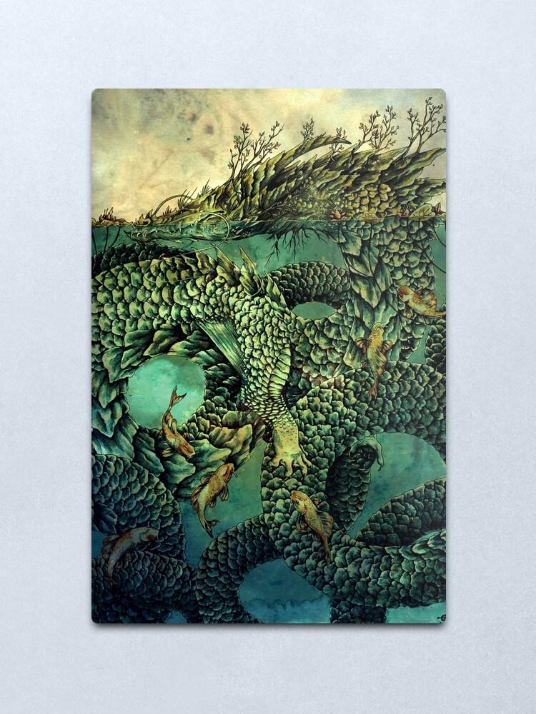 Alternate view of River Dragon Metal Print