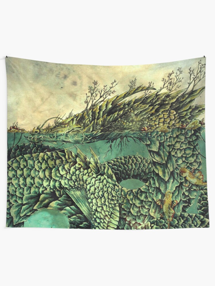 Alternate view of River Dragon Wall Tapestry