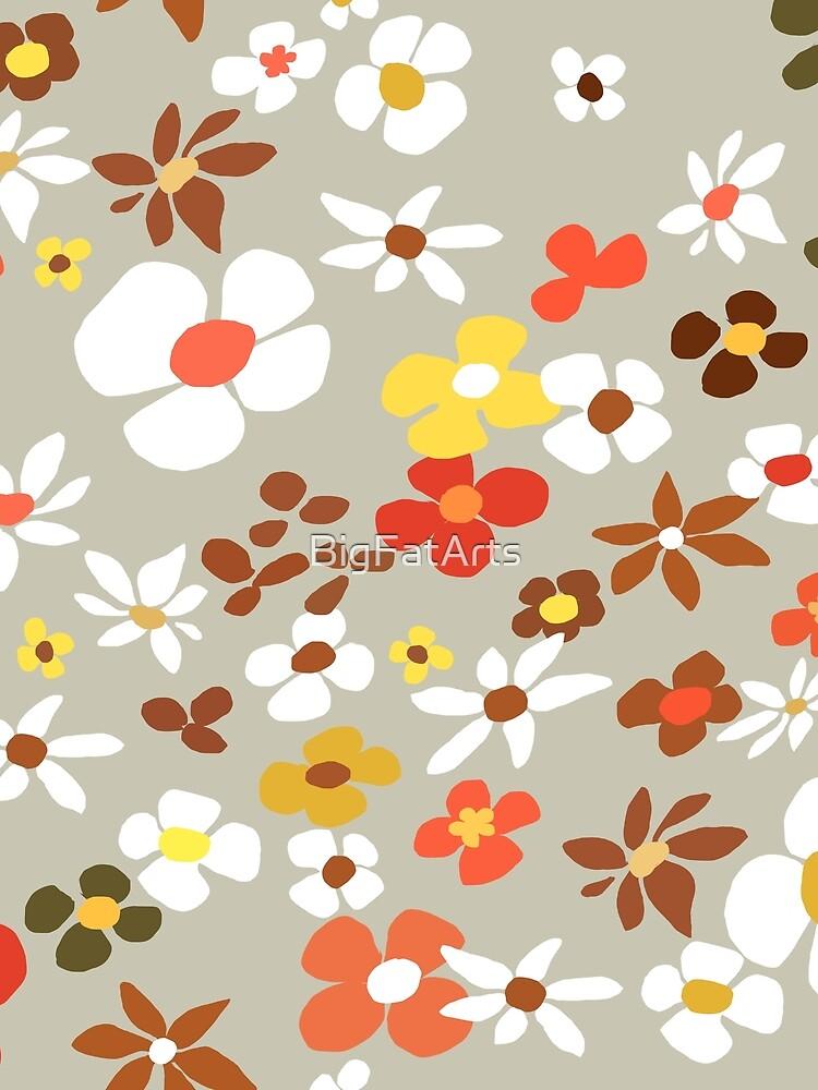 Floral Riot on Cream by BigFatArts