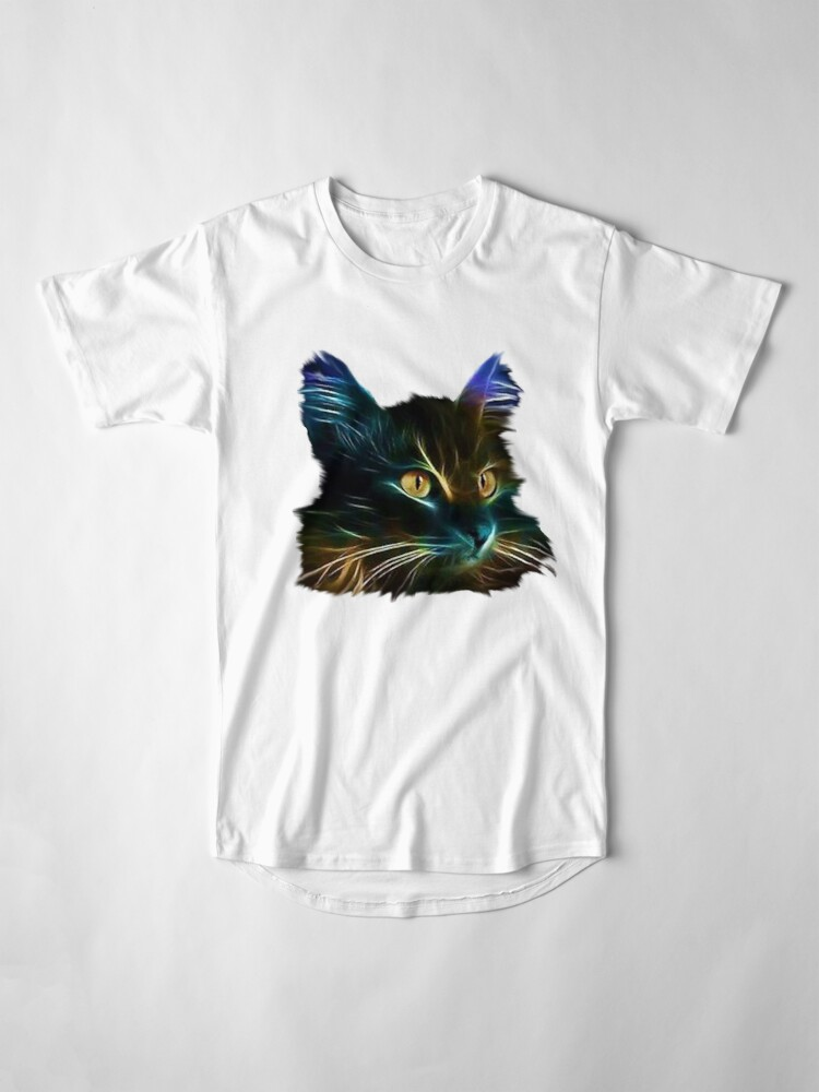 Vista alternativa de Camiseta larga Cat Neon
