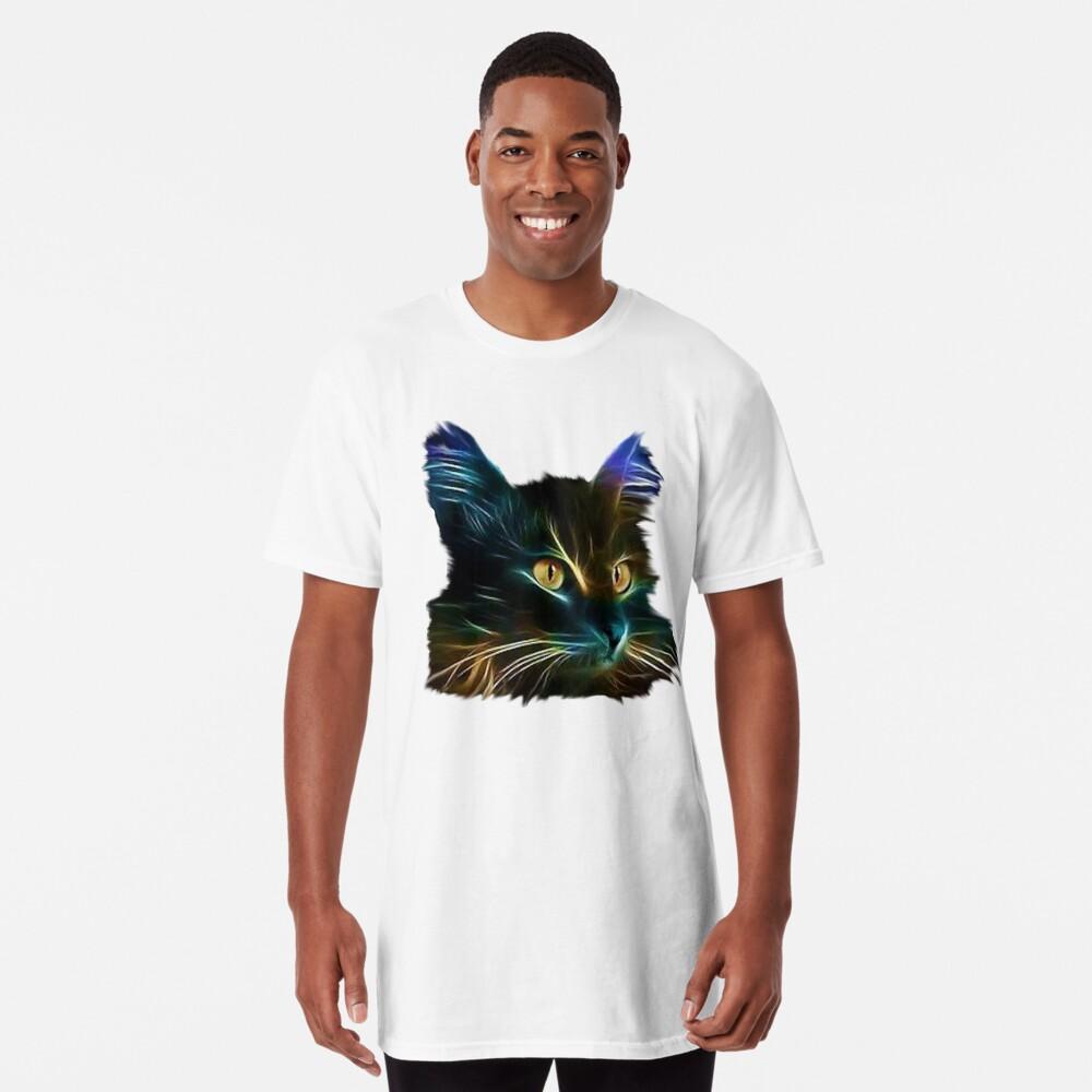 Cat Neon Camiseta larga