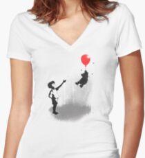 Little Black Rain Cloud Women's Fitted V-Neck T-Shirt
