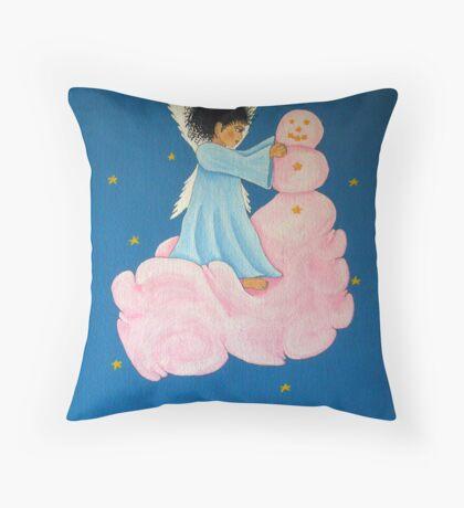 Building a Cloud Man Throw Pillow