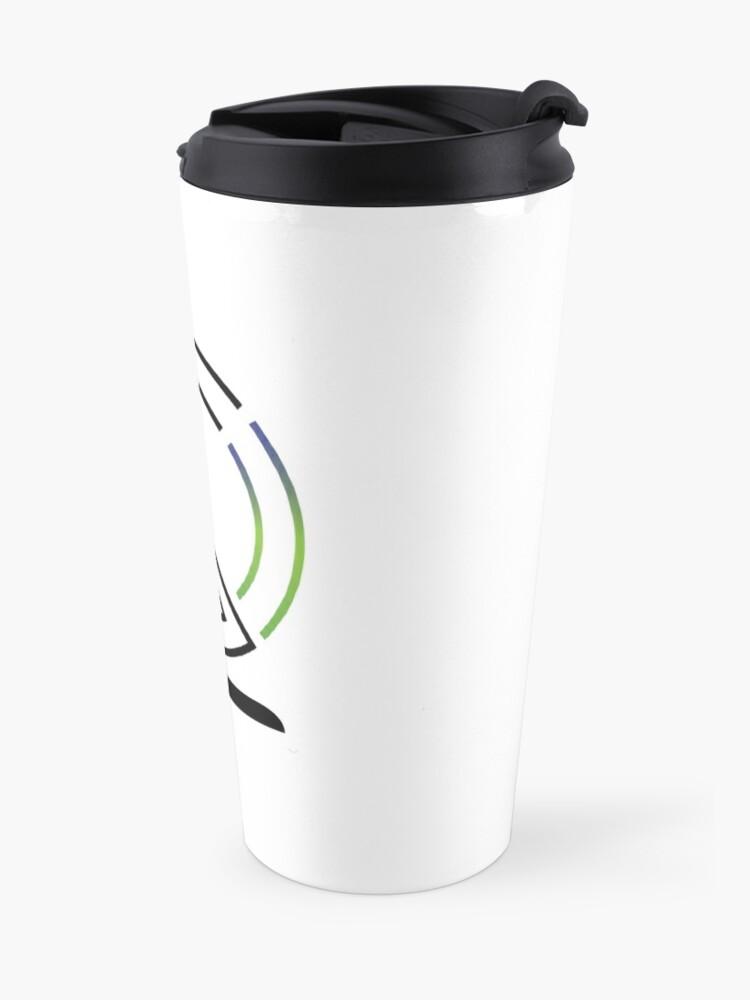Alternate view of The Lost Geographer Logo Travel Mug