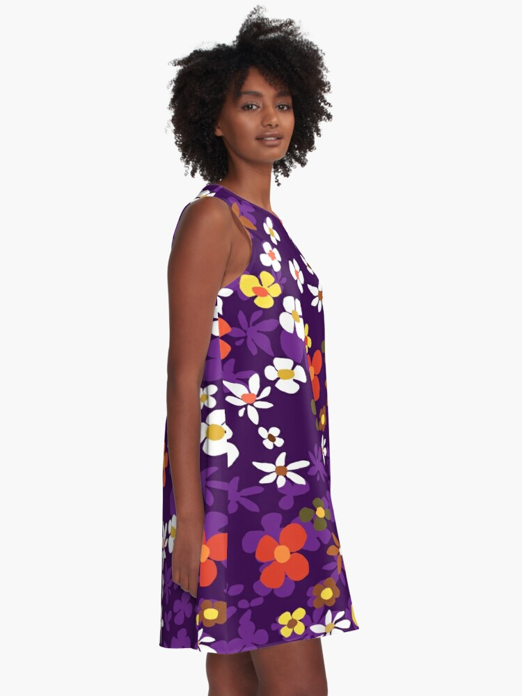 Alternate view of New Floral Plum A-Line Dress
