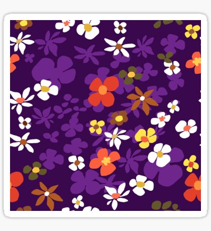 New Floral Plum Glossy Sticker