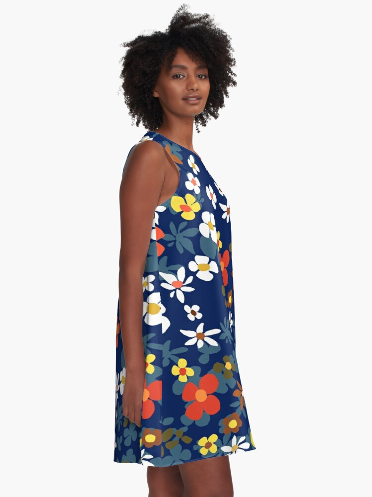 Alternate view of New Floral Blue A-Line Dress