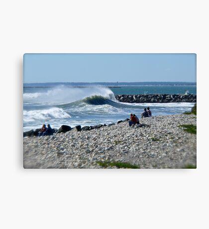 Hurricane Igor Sends Ocean Waves - Point Judith - Rhode Island Canvas Print