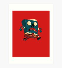 Spongebook Deadpants Art Print