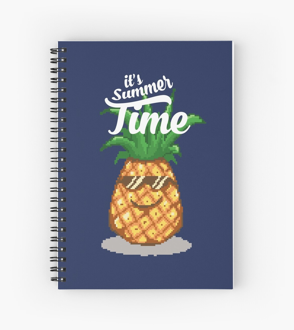 Summer Time Pineapple Pixel Art Spiral Notebook By Rebus 28