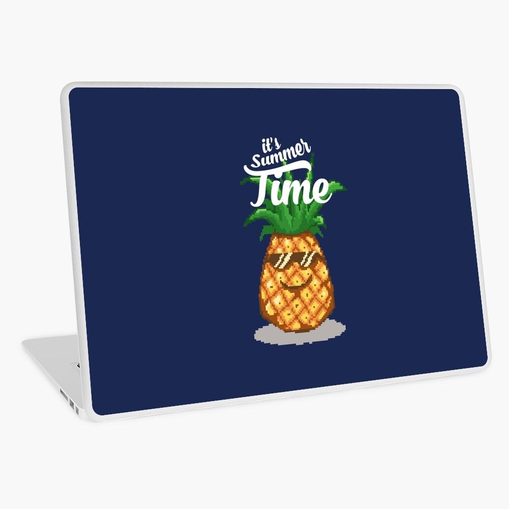 Summer Time Pineapple Pixel Art Laptop Skin