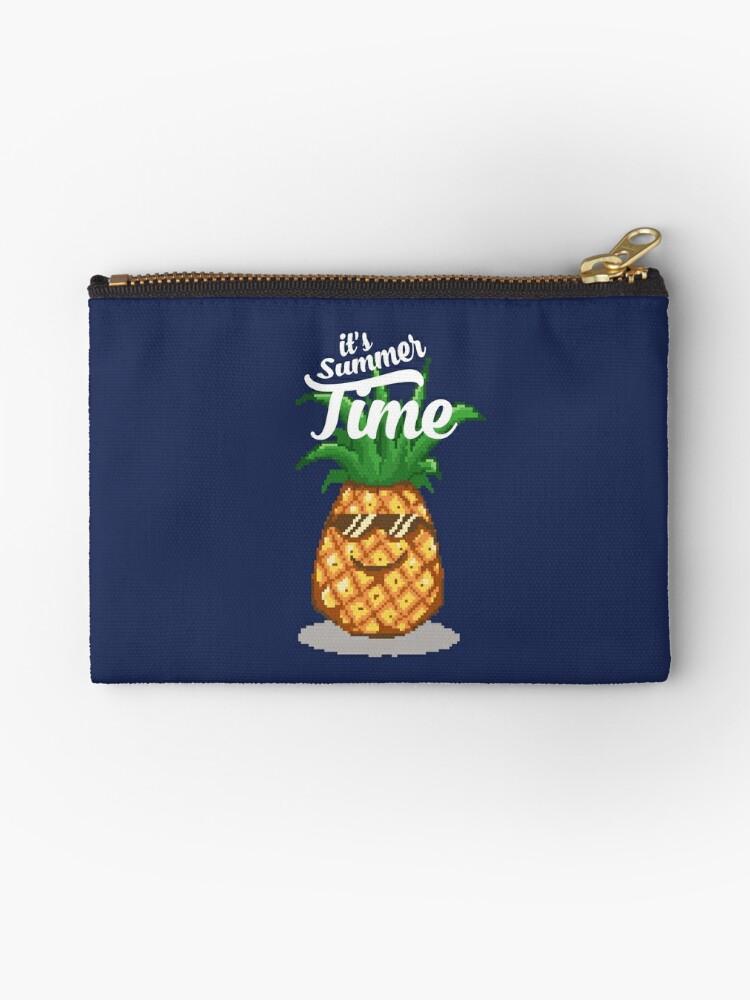 Summer Time Pineapple Pixel Art Zipper Pouch By Rebus 28