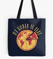 My World Is Flat Tote Bag