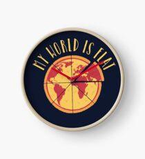 My World Is Flat Clock