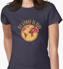 My World Is Flat Fitted T-Shirt