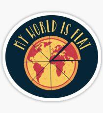My World Is Flat Sticker