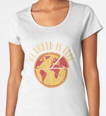My World Is Flat Premium Scoop T-Shirt