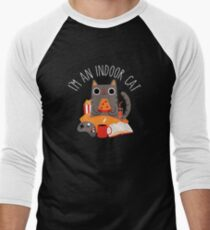 Indoor Cat Baseball ¾ Sleeve T-Shirt
