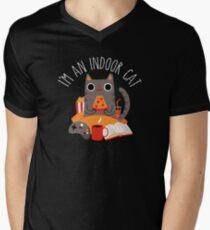 Indoor Cat V-Neck T-Shirt