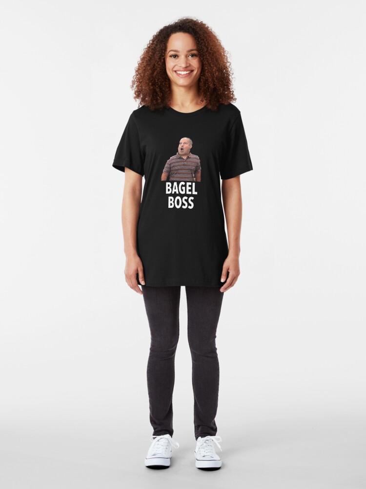 Alternate view of Bagel Boss Funny T Shirt Slim Fit T-Shirt
