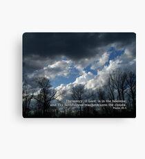 Unto the clouds Canvas Print