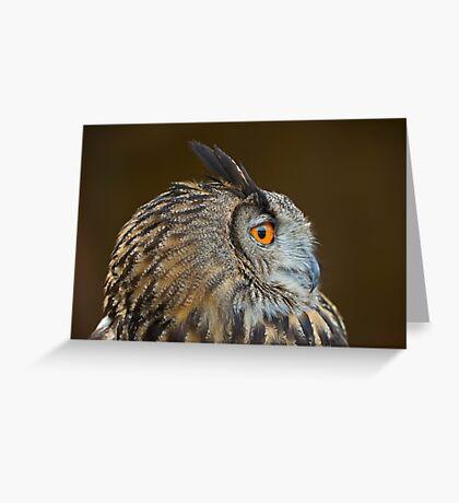 Eagle Owl Profile Greeting Card