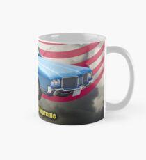 Oldsmobile Cutlass Supreme And American Flag Mug