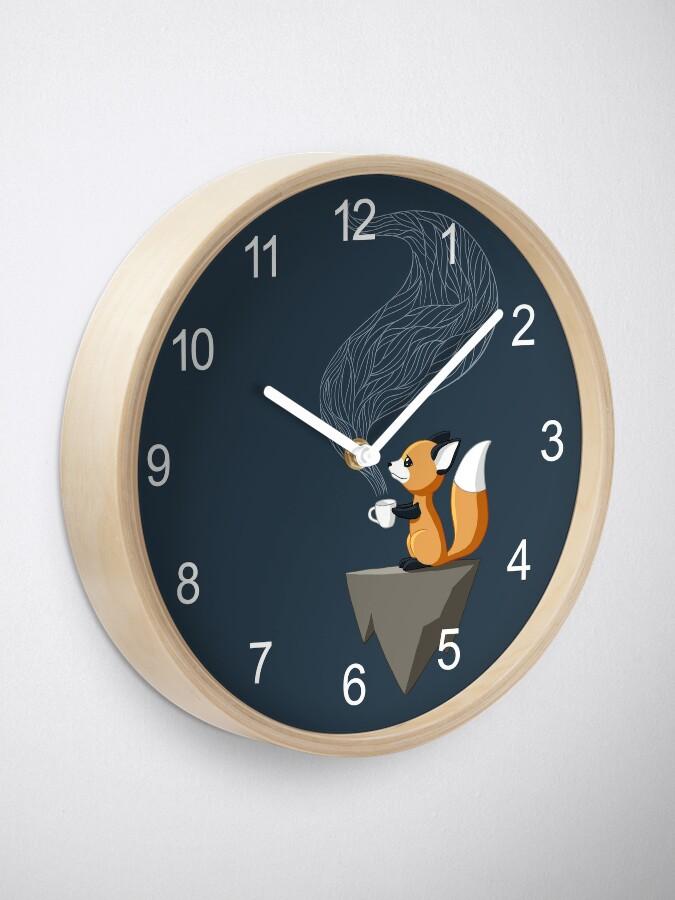Alternate view of Fox Tea Clock