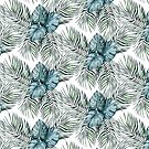 Vintage Havana Monstera Palm Leaf Pattern by Laura-Lise Wong