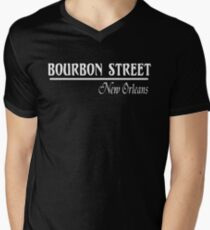 Bourbon Street New Orleans Men's V-Neck T-Shirt