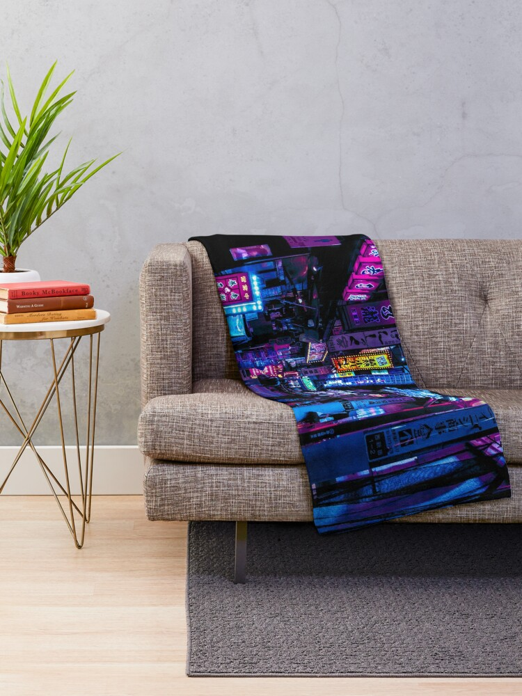Alternate view of Blade Runner Vibes Throw Blanket