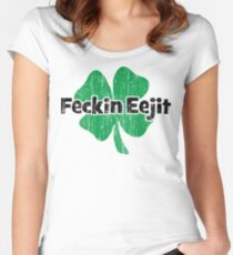 Feckin Eejit Women's Fitted Scoop T-Shirt