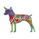 Rat Terrier Love - A Bright and Colorful Watercolor Style Gift by traciwithani