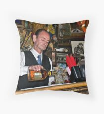 Happy Hour at the Last Chance Saloon Throw Pillow