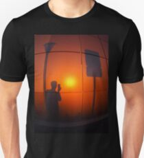 Defocused and blurry shadow of the man T-Shirt