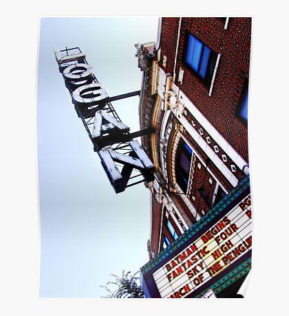 logan square movie theater, chicago Poster